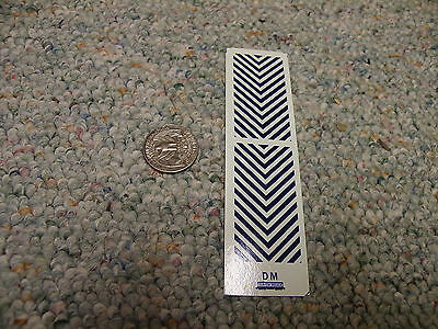 """Herald King decals HO CP Rail diesel nose striping 9/""""   white    XX233"""