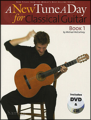 A New Tune A Day for Classical Guitar Book/CD/DVD Learn to Play Beginner Method
