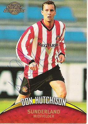 A Topps card Don Hutchison at Sunderland. Personally signed by him.