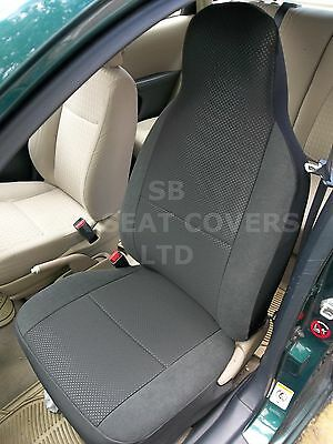 To Fit A Renault Zoe, Car Seat Covers, Raven Anthracite Cloth, 2 Fronts