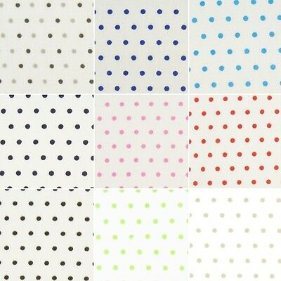 3mm Fashion Dotty Spots Polka Dots Polycotton Fabric (B)
