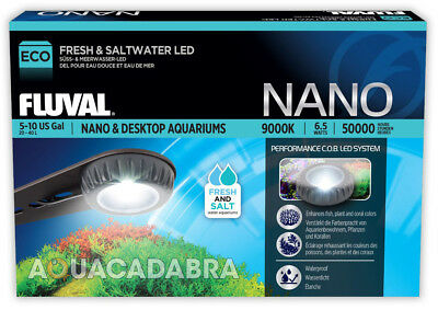 Fluval Nano Led Lamp Cob 6.5W Up To 40L Fresh Marine Small Aquarium Fish Tank