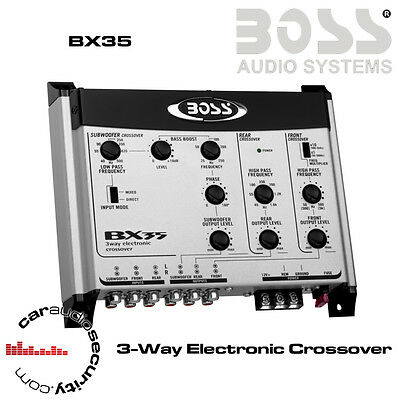 Boss Audio Systems BX35 - 3-Way Electronic Crossover