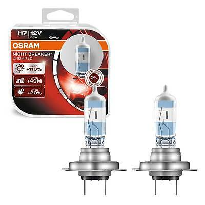2 x H7 OSRAM NIGHT BREAKER UNLIMITED BLISTER PACK HEADLIGHT BULBS 64210NBU-HCB