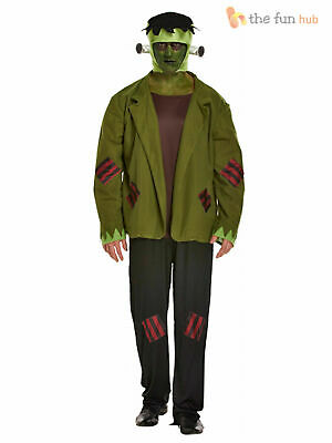 Mens Frankenstein Costume Monster Horror Halloween Fancy Dress Size L- XXL