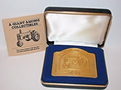 John Deere 730 Tractor Belt Buckle 1991 Limited Ed 5241/6000  24K Gold Plated