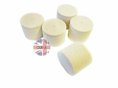 Metal Polishing Felt Wheels 50 x 40mm (3mm centre hole) Medium felt (5x wheels)