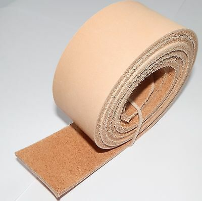 "3.5MM THICK NATURAL VEG TAN LEATHER RESIN SEALED BELT BLANKS 147cm - 58"" LONG"
