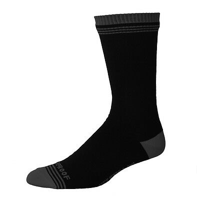 Showers Pass Crosspoint Waterproof Cycling Crew Sock in Black / Gray