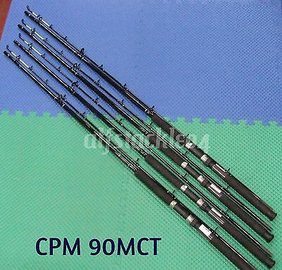 Okuma Classic Pro 9 ft Chartreuse Tip Trolling Rods 4 Pack CPM 90MCT