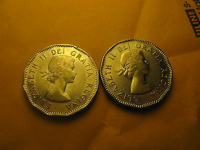 1953 Canada Small Cent 2 Varieties Shoulder Fold and Non Shoulder Fold.