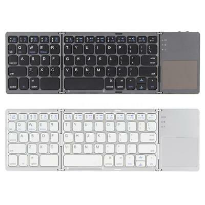 Kkmoon Mini Folding Bluetooth Wireless Keyboard with Touchpad for Phone Tablet