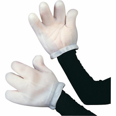 Vinyl Mascot Mickey Minnie Mouse Adult White Cartoon Animal Gloves Hands Costume