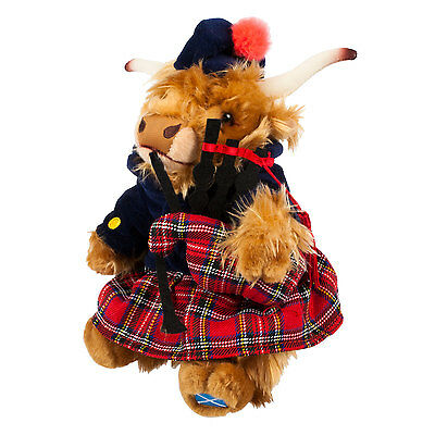 Heritage of Scotland 10 Inch Highland Cow Piper Plush Toy
