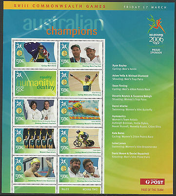 AUSTRALIA 2006 COMMONWEALTH GAMES GOLD MEDAL Souvenir Sheet No 3 MNH