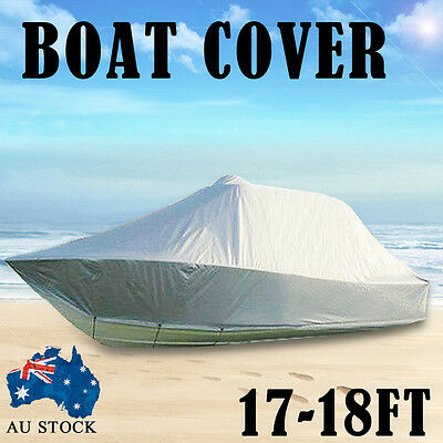 Design Heavy Duty 17FT-18FT (5.2M-5.5M) Trailerable Jumbo Boat Cover With Zipper