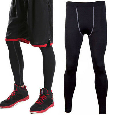 Compression Men Athletic Base Layer Sport Skins Under Tight Running Leggings Gym