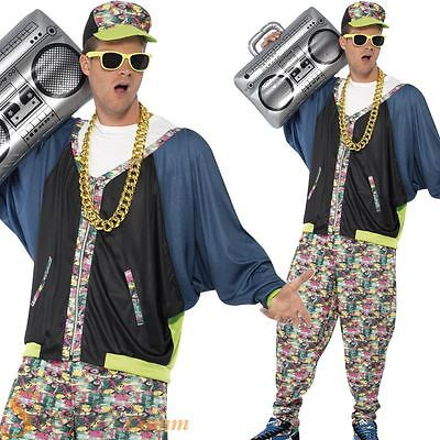 Mens 80s 90s Hip Hop Star Rapper Vanilla Ice Fancy Dress Costume Adult Outfit