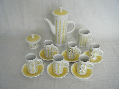 C4 Pottery Cinque Ports Pottery Rye Coffee Service (17 pieces) - CHIPPED 3C7C