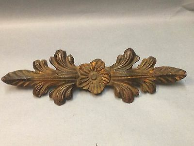 Antique Vintage Cast Iron Drapery Curtain Center Piece Part