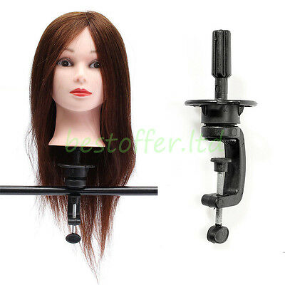 Adjustable Mannequin Head Holder Stand Hair Training Doll Manikin Wig Clamp Tool