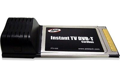ADS Tech Instant TV-Karte Dual DVB-T Digital + Analog PCMCIA Cardbus Card Tuner