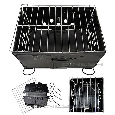 Bbq Collapsible Barbecue Folding Grill Charcoal Mini Coal Camping