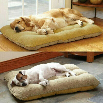 Dog Pet Cage Crate House Bed Mat Cushion Mattress Tough Removable Washable Cover