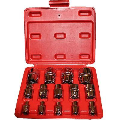 "14 piece E Torx Socket Set In a Storage Case 1/4"" 3/8"" 1/2"" Star Female Sockets"