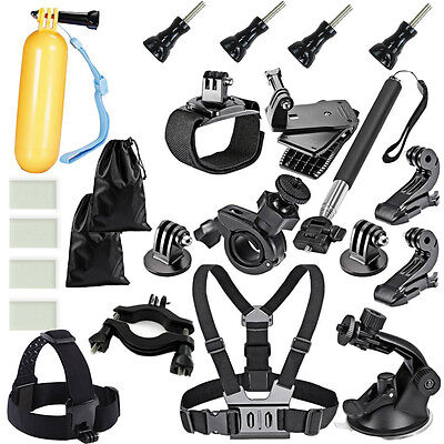 UK 32in1 Chest Mount Strap GoPro Hero 2 3 4 5 Outdoor Camera Accessories Pack