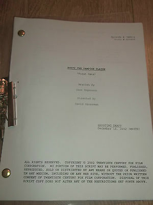 "Buffy The Vampire Slayer ~ Shooting Draft Script "" First Date "" 2002"