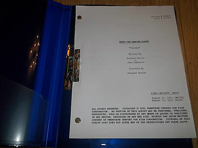 "Buffy The Vampire Slayer ~ Final Writer's Draft Script "" Flooded "" 2001"