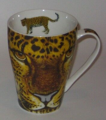 2008 WILD CAFE Awesome LEOPARD FACE by PAUL CARDEW China MUG Designed in ENGLAND