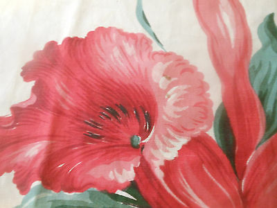 Antique Vintage Lg. Orchid Faille Fabric ~ Deep Pink Jade ~pillow projects 40's