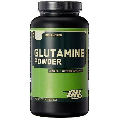 Optimum GLUTAMINE Amino Acid Powder 300g Unflavored Muscle Recovery 60 Servings
