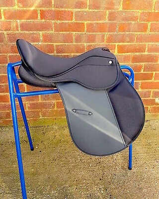 "Super-comfy Deeper seat GP Saddle Synthetic CHANGEABLE GULLET SIZE 16.5"" SALE"