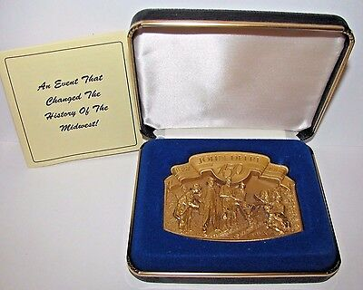 John Deere Walking Plow Belt Buckle 1987 150 Yr Horse Drawn Limited Ed 2737 Gold