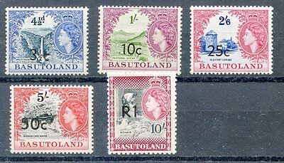BASUTOLAND SCOTT#65a, 67a, 69a, 70a & 71a  MINT HINGED ORIGINAL GUM AS SHOWN