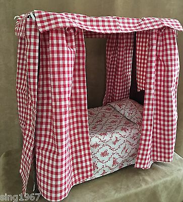 Felicity Canopy Bed & Bedding American Girl doll Pleasant Company PM premattel