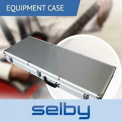 Electric Guitar Case Hard Road Case Lockable in Silver Aluminium
