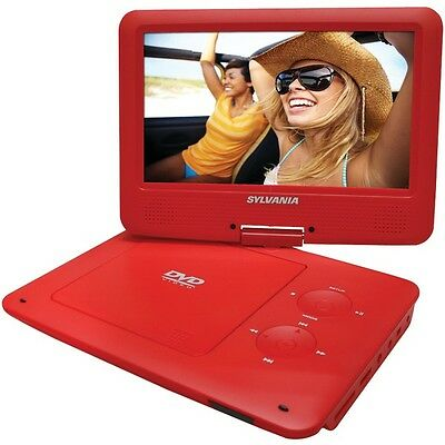"SYLVANIA SDVD9020B-RED 9"""" Portable DVD Player with 5-Hour Battery (Red)"
