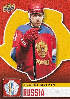 Evgeni Malkin 2016 Upper Deck World Cup Of Hockey Base #wch-35 Russia !