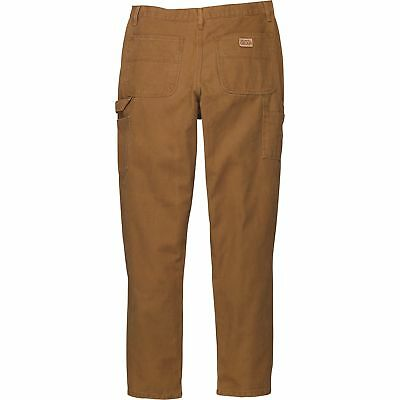 Gravel Gear Heavy-Duty Carpenter-Style Work Pants 44in Waist x 30in inseam Brown