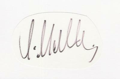 A white card clipped autograph. Personally signed by footballer Lothar Matthäus.