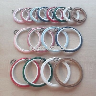 2.5in / 4in COLOURED ROUND FLEXI HOOPS ***5% OFF 2+*** Choice Of 8 Colours