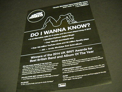 ARTIC MONKEYS have basically taken over R&R this year 2014 PROMO POSTER AD