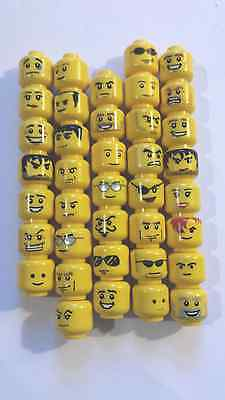 10 GENUINE LEGO MINI FIGURE HEADS-All different-UK SELLER-