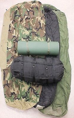 US Army Military MSS Goretex Sleeping bag System Schlafsack Woodland m Isomatte