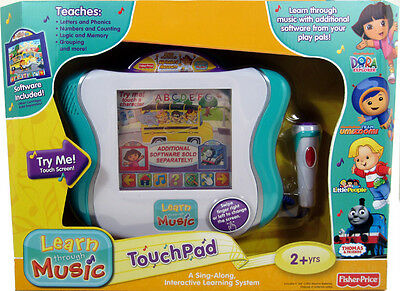 Fisher Price LEARN THROUGH MUSIC TOUCHPAD interactive NEW