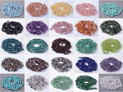 "U Pick 16"" AAA Natural Smooth Chips Gemstone Beads Free-Form Loose Beads ~8x5mm"